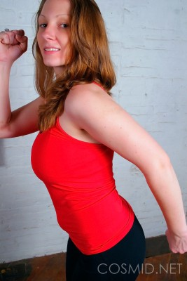 Wpid Busty Redhead Works Out In Yoga Pants