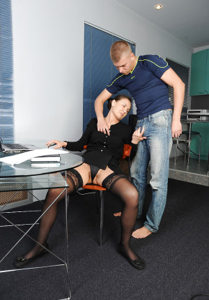 Busty MILF Svetlana fucks her student from class with her full bush