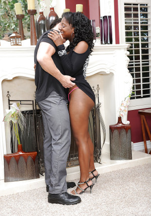 Naked black minx Jordan Lover has nasty fuck session with a white stud