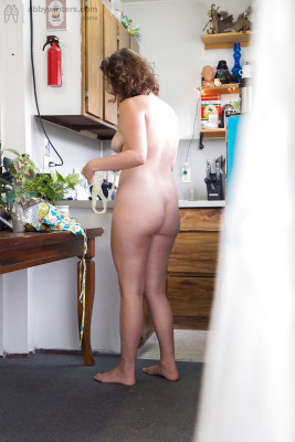 Wpid Plump Naked Amateur Willa Pulling On Panties And Dress In Kitchen