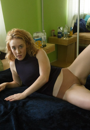 Cute strawberry blonde amateur Bonnie Luntz teases in her panties and with her huge butt plug