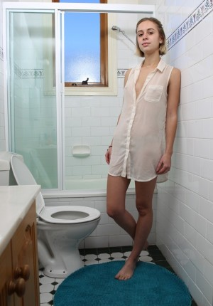 Nude teen on toilet seat gallery there similar