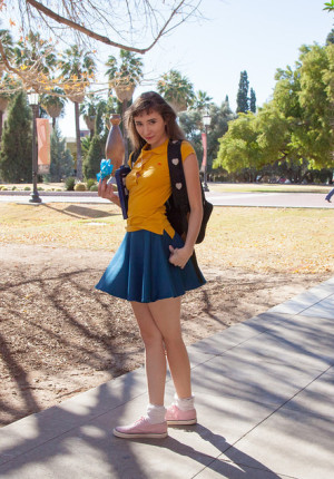 Brunete coed Yvette Nolot back to school part 2