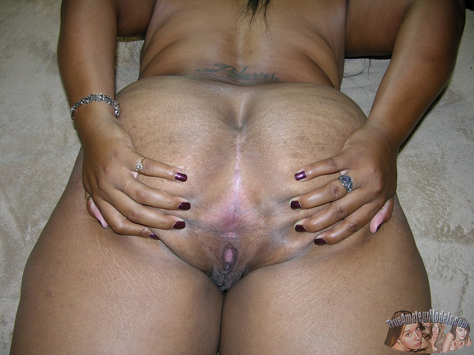 models True black amateur