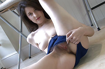 Tiffanny gives you a guided tour of her sexy hairy body. It ends with her fingering her hairy pussy and tight hairy ass on the kitchen floor.