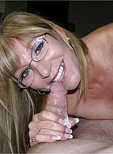 Amateur Grandma Gives Wet And Sticky Blowjob