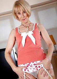 Hazel feels sexy in her suspenders
