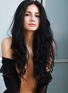 Dark silky haired girl with smallish breasts and a naughty mood is aggressive and hungry.