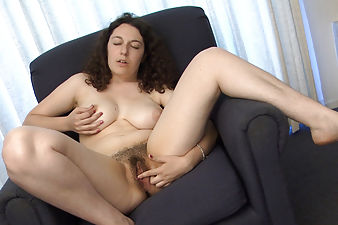 Tamar teaches her hairy pussy a new lesson