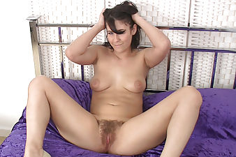 Jade taunts the camera with her big puffy nipple and sweet hairy pussy! Only complemented by her seductive moves and sexy smile.