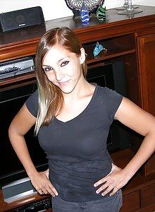Latina girl with crazy dark nipples