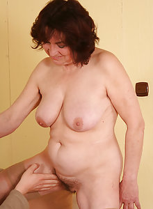 63 year old Hanna sucking and fucking young hard cock