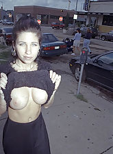 Fantastic tits exposed in public