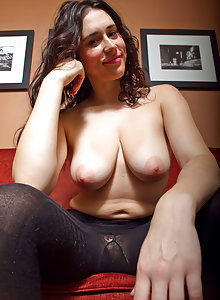 Marianna from Cosmid keeps her jeans on but takes out her big saggy breasts