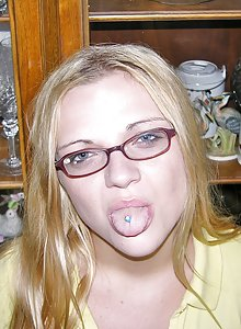 Teen Nerd With Glasses Gives Blowjob And Models Nude