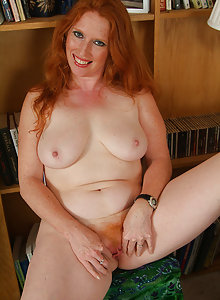 Furry redheaded MILF gets down and dirty