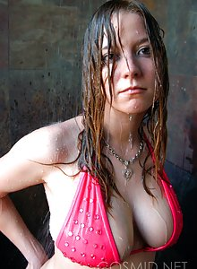 Cosmid's Lisa Marie with dripping wet big tits in the shower