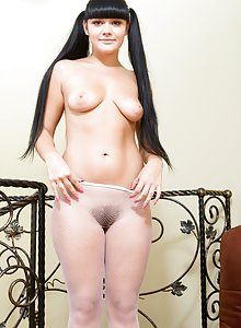 Elicia is the best at showing her hairy bush