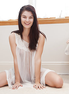 Alison Grey teasing in her nightie