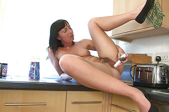Tracey Lain can't wait to make her hairy pussy cum