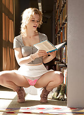 Catie Parker giving some library peeks