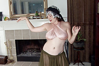Mystique Jones likes to dance and her hairy pussy