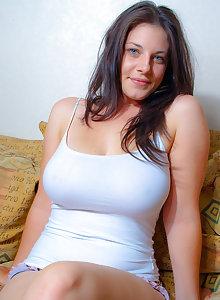 amateur girl Bex teasing in a tank top