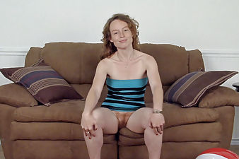 Meet Ana Molly who shows off her hairy pussy