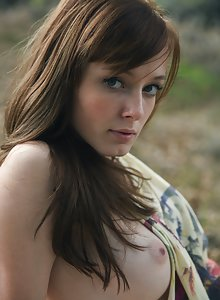 Nude hipster girl Ellie Jane Is very serious