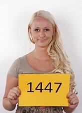 Blonde czech cutie casting shots