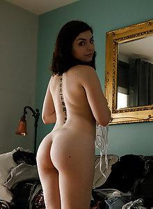 Curvy amateur Keira Croft in her sheer panties and bra