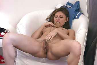 Chloe R keeps her skin moisturized and pussy moist