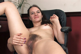 Jackie Paige records hirsute porn at work