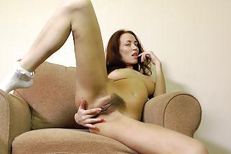 Hairy woman Arina loves the way she looks