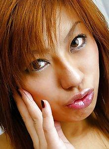 Yukari Fujikawa Asian teen shows off her sexy body in her wild lingerie
