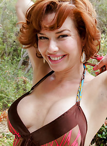 Beautiful redhead MILF Veronica from FTV MILFs showing off her body