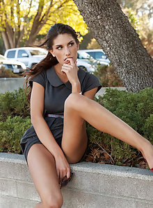 August Ames shows her fantastic body in public