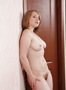 Hairy girl Alice shows her gorgeous curves