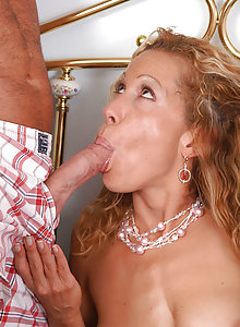 At 41 years old Rachel can still suck long cock great