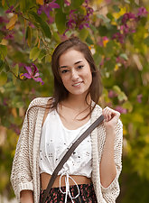 Carlee Delima walking around her college campus and being naughty