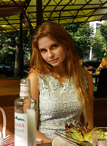 Natural amateur cutie Ulyana Orsk having fun about town