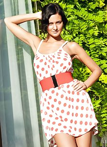 WowGirls Adria Takes Off Her Polka Dot Dress