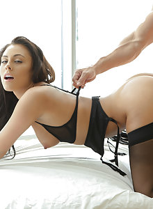 Exotic slut with model looks loves to ride dick and taste cum