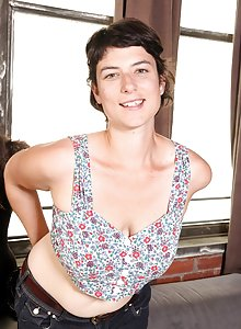some wonderful pics in this shoot of girl next door Hazel who sports a nice hairy bush as well as some armpit growth